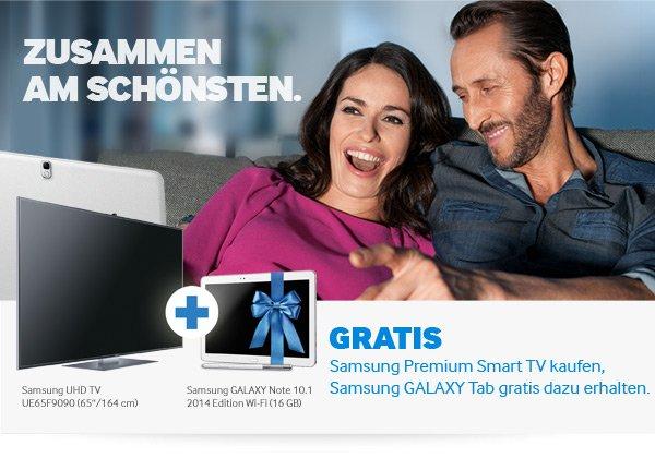 Samsung UE-55 F 8090  > incl Samsung GALAXY Tab 3 10.1 WiFi, white, 16 GB   GRATIS