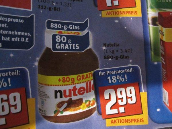 REWE - Nutella 880g Glas diese Woche