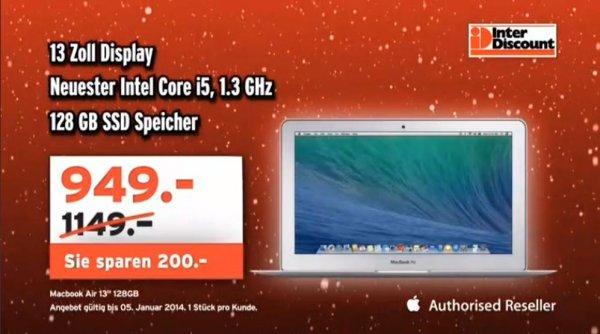 """[Schweiz][Interdiscount] Apple Macbook Air 13"""" für 949 CHF (775 Euro)"""