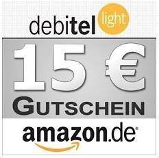 15,00 Euro Amazon Gutschein für 1,95 Euro mit debitel light