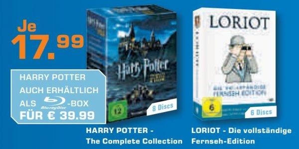 Last Minute Schäppchen: Loriot (Die vollständige Fernseh-Edition) & Harry Potter (The Complete Collection) für je 17,99€ ab 24.12. @Saturn