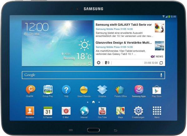 "Samsung Galaxy Tab 3 10.1"" (25,7cm) Tablet P5210 16GB WiFi WLAN midnight-black für 269,00 EUR bei ebay"