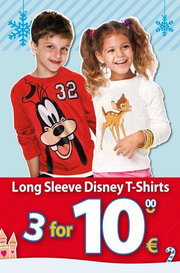 3 Disney Langarm-Shirts für 10 Euro!!!!
