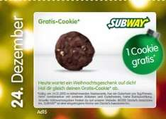 Subway - Gratis Cookie am 24.12