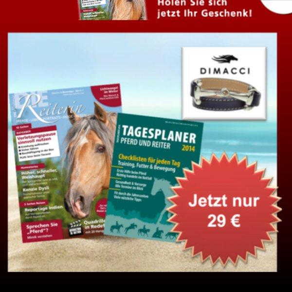 Dimacci Armband + Die Reiterin Abo (6x) + Tagesplaner