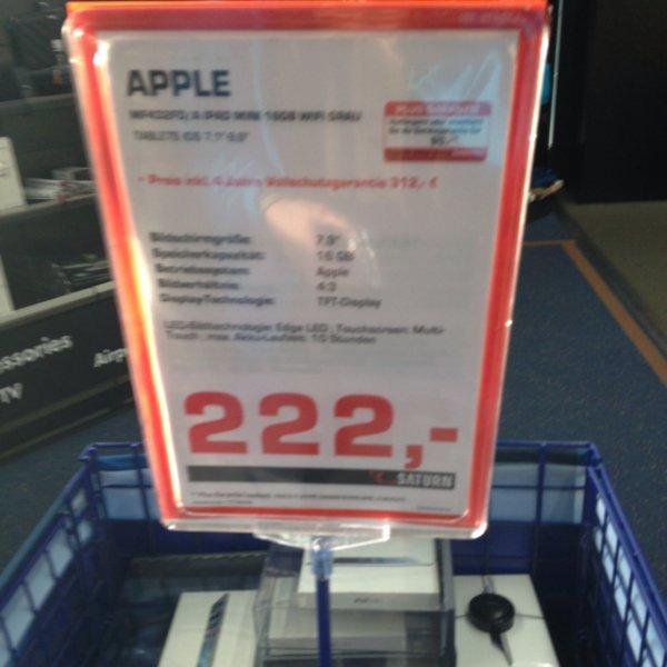 iPad mini 16 GB wifi, Saturn Ku'damm. Ggf. neuer Bestpreis