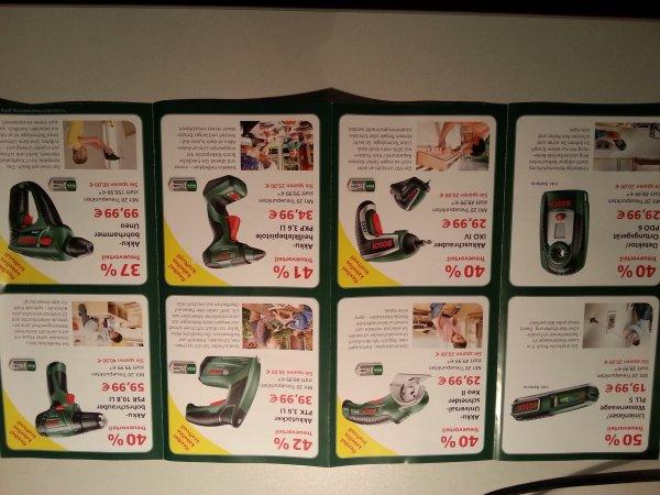 Bosch IXO IV für 29,99€ (idealo: 39,90€),   Akkubohrschrauber PSR 10,8 LI für 59,99€ (idealo ab 99,99€), etc.  [LOKAL über SBK Treuepunkte]