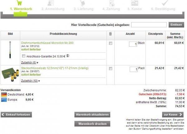 [Voelkner.de mit GS] Proxxon Drehmomentschlüssel Micro Click 200+Satz Nüsse (17,19,21)= 74,53€ bei SÜ