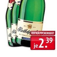 Rotkäppchen-Sekt 0,7l halbtrocken für 2,39 Euro (lokal)