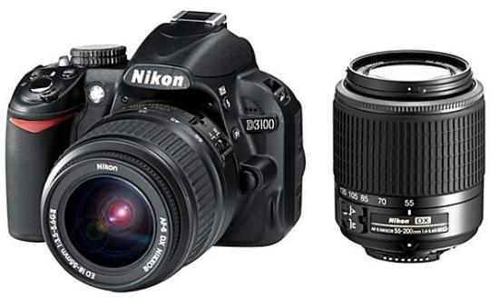 NIKON D 3100+18-55II mm+55-200mm