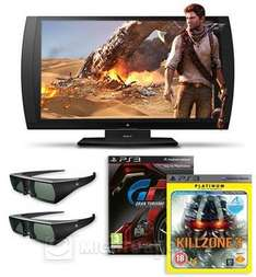 """23,5"""" Sony PlayStation Monitor 3D-Bildschirm (auch als Monitor nutzbar) - Bundle inkl. SimulView, 2x 3D Brillen,  GranTurismo, KillZone für 206,99 @ redcoon.de"""