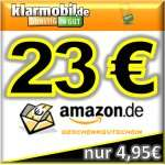 """7. UPDATE: klarmobil SIM-Karte mit 15,00€ Startguthaben + """"nur noch"""" 20,00€ AMAZON-Gutschein oder 25,00€ iTunes-Gutschein"""