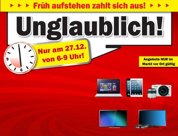 (AUT) - Frühshoppen bei Mediamarkt von 6 - 9 Uhr am 27.12.