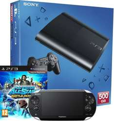 Playstation 3 500GB inkl. Playstation Vita WiFi + Playstation Allstars Bundle für 242€ @Amazon WHD UK
