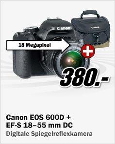 Canon EOS 600D (+ Canon Tasche ) @ MediaMarkt
