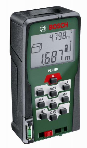 [amazon Blitzangebot] Bosch PLR 50 Laser-Entfernungsmesser + Schutztasche (0,05-50 m Messbereich, +/- 2 mm Messgenauigkeit)