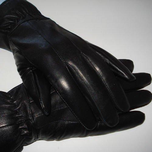 Herren Lederhandschuhe [100% Leder], Schwarz, mit Versand 9,20 €