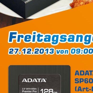 (Lokal in den Atelco Filialen von 9-10 Uhr) ADATA Premier Pro SP600 128GB für 64,99 EUR