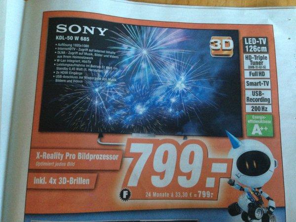 [OFFLINE] SONY KDL-50 W 685 für 799€ @ Expert