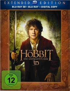 [amazon.de] Der Hobbit: Eine unerwartete Reise - Extended Edition [Blu-ray 3D + Blu-ray + Digital Copy]
