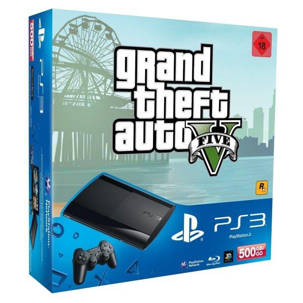 PS3 PlayStation 3 500GB + DualShock 3 Wireless Controller + GTA V bei Amazon für 204€