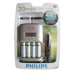 [offline Jawoll] Schnelladegerät Philips 4 AA Akkus 2450mAh 9,99€ statt 19,99€