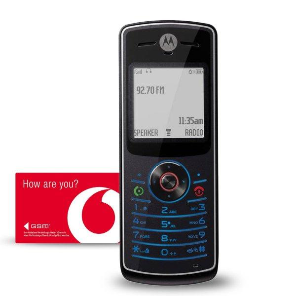 Motorola W156 Vodafone Prepaid Handy inkl. 1 Euro Startguthaben für 5,50 inkl VSK