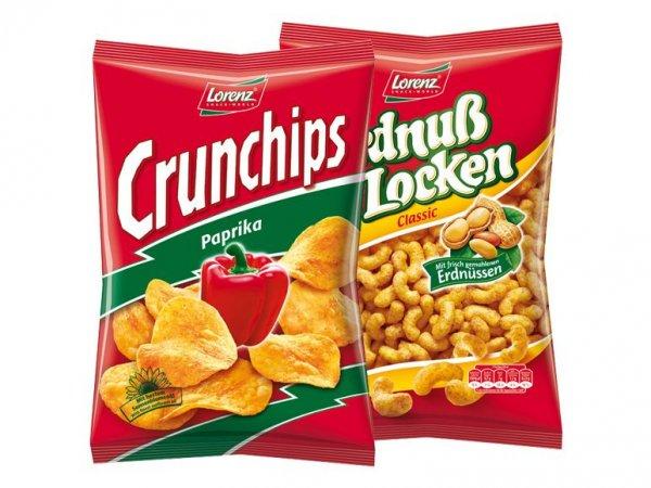 Lorenz Crunchips/Erdnussflips für 1,11€ bei Lidl