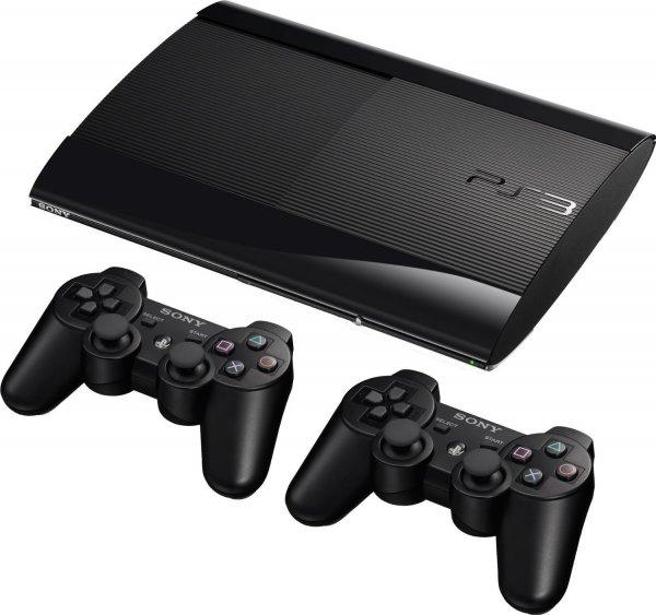 PS3 SuperSlim + 2 Controller für 170€