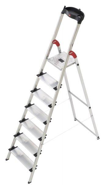 [Amazon -32%] Hailo XXL 8817-001, Alu-Leiter 7 Stufen mit extra breiten Tritten 66,44€