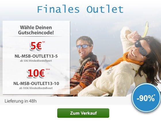 MySportWorld  -  Finales Outlet  +  Gutscheine 5€ oder 10€