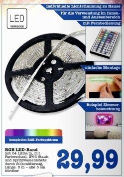 [Lokal/Regional] Scheck-in: RGB- LED -Band, 270 LEDs, 5m, auch für außen