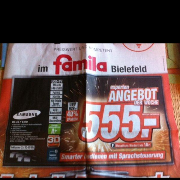 Lokal Bielefeld Samsung UE-46 F 6470 (Expert im familia)