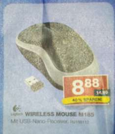 Local@staples Logitech M185 Wireless Mouse für 8,88 €