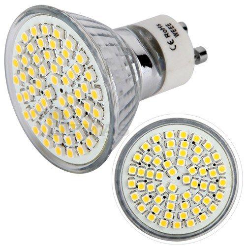 10X GU10 60 SMD LED Lampe Licht Strahler Leuchte Warmweiß 3200K