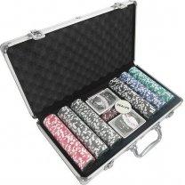 Pokerkoffer silber 300 Chips 13.5 g Laser 62505877 für 15,99€