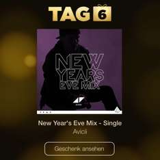 "iTunes 12 Tage Geschenke: TAG 6 ""Avicii - New Year's Eve Mix - Single"