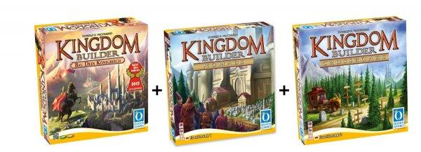 Kingdom Builder Deluxe Bundle: Basisspiel mit Erweiterung 1 und 2 für 35,62€