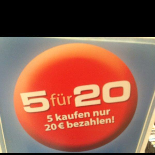5 Blu-rays für 20€ @ Müller