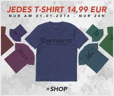 Am 01.01.2014: Alle T-Shirts 14,99 € bei inflammable.com (Streetwear)