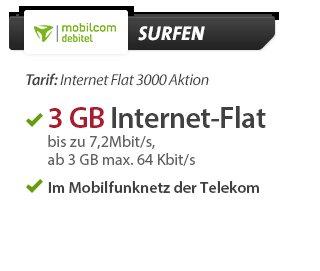 [sparhandy]  3GB Surfflat D1  4,99€ Bestandskunden