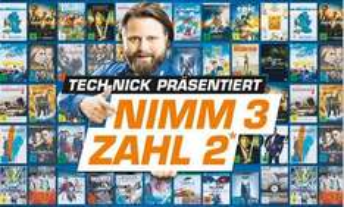 Saturn (online & offline) - Nimm 3 zahl 2! Cds, Hörbücher, DVDs, Blu-Rays, Games oder Software (ab 31.12. - 19.00 Uhr)