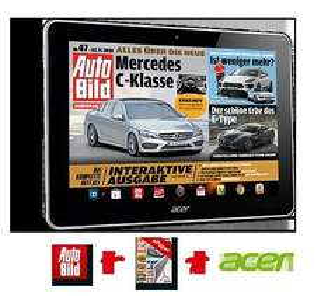 Acer A3 Tablet + ePaper & App Sportbild oder Autobild für 24 Monate