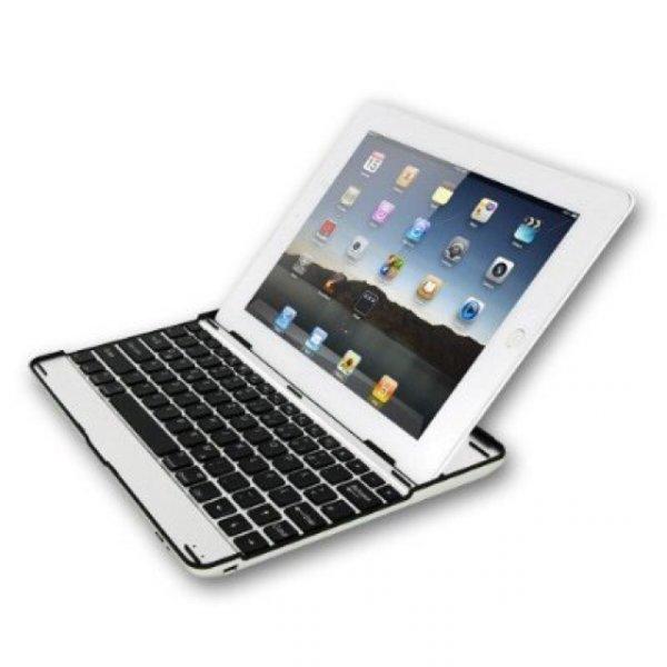 Sharon iPad 4 Case Alu mit integrierter Bluetooth Tastatur QWERTZ