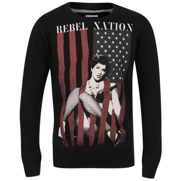 [zavvi] Ringspun Rebel Flag Sweat (und weitere Modelle) schwarz / grau / weiß, cotton blend, S-XXL, kostenloser Versand 14,69