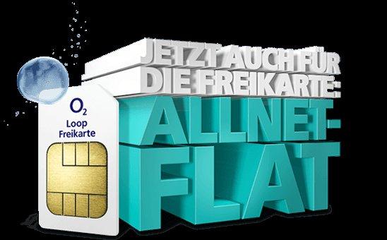 O2 Loop Freikarte jetzt mit Allnet-Flat für 14,99€ p.M. (monatlich kündbar!!!)