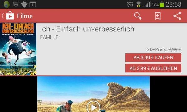 """Super Kinderfilm (IMDb 7,6) """"Ich - Einfach unverbesserlich"""" @Google Play"""