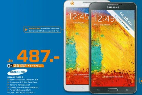 """[lokal Berlin?] Galaxy Note 3 fürs Cashback nochmal """"günstig"""""""