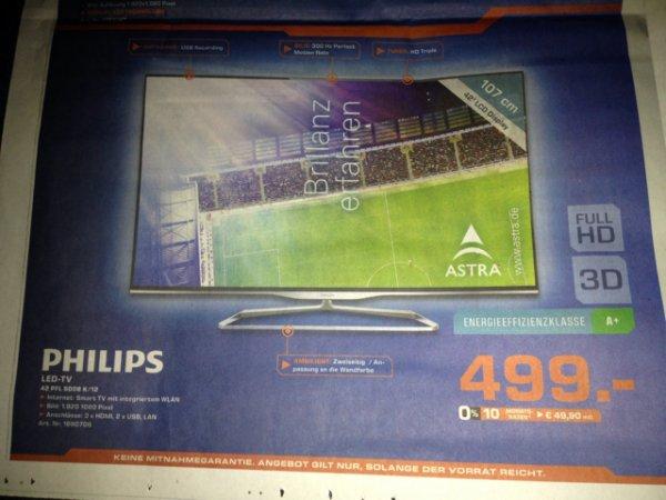 [lokal Saturn Braunschweig] Philips 42PFL5008 mit 2-seitigem Ambilight