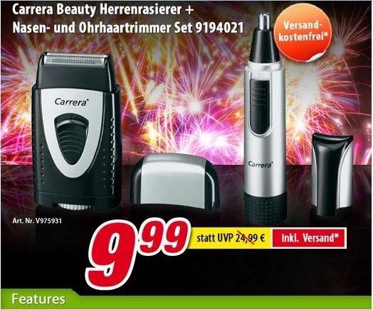 Voelkner - Carrera Beauty Herrenrasierer + Nasen- und Ohrhaartrimmer Set 9194021  9,99 € Versandkostenfrei -